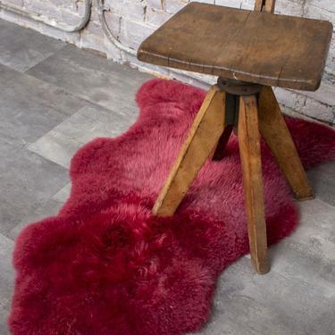 Burgundy Sheepskin Rug