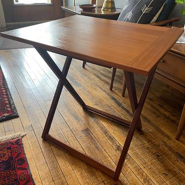 Danish Teak Folding Table by Ansager Mobler 1970s