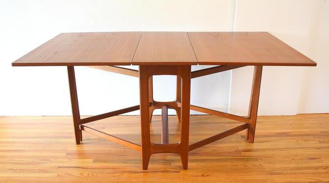 Mid Century Modern Norwegian Gateleg Dining Table
