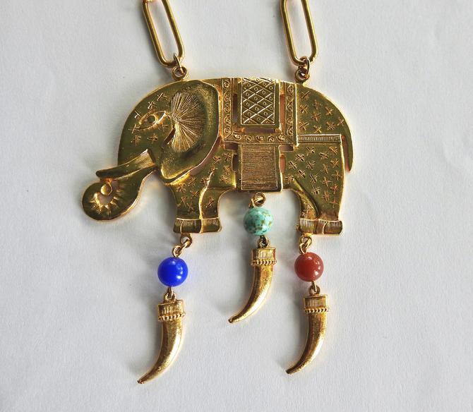 Elephant Necklace by LegendaryBeast