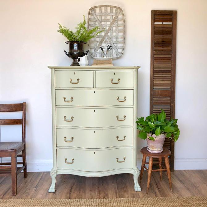 Green Tall Dresser - Farmhouse Furniture by VintageHipDecor
