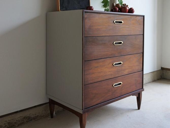 Gray + Wood Dresser