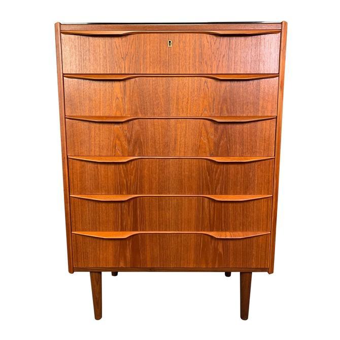 Vintage Danish Mid Century Modern Teak Gentleman's Chest Dresser by AymerickModern