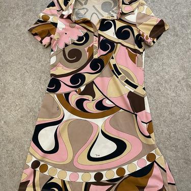 Pucci Brown Swirl Mini Golfer Dress