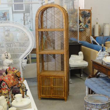 Island Style Rattan Arched Etagere