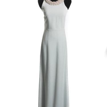 Balenciaga Gown with Pearl Neckline