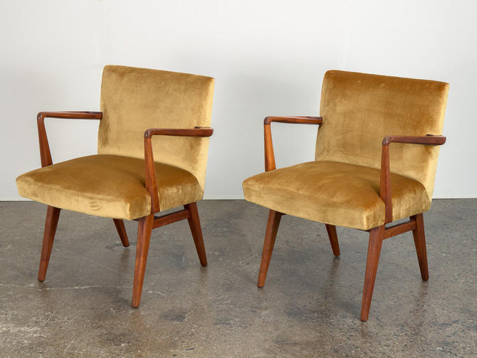 Pair of Jens Risom Occasional Chairs by openairmodern