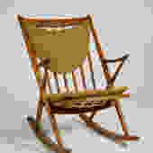 Teak Frank Reenskaug Rocking Chair for Bramin