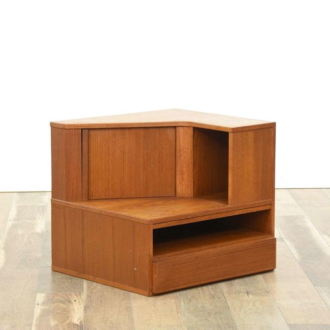 Danish Modern Teak Compartment Corner Desk