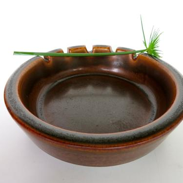 """Vintage Arabia Finland Large 6 1/2"""" Ruska Ashtray, Rustic Modern Stoneware Ashtray Designed by Ulla Procope From Finland by HerVintageCrush"""