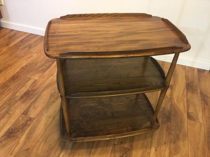 Mid-Century Solid Wood Bar Cart by Vintagefurnitureetc
