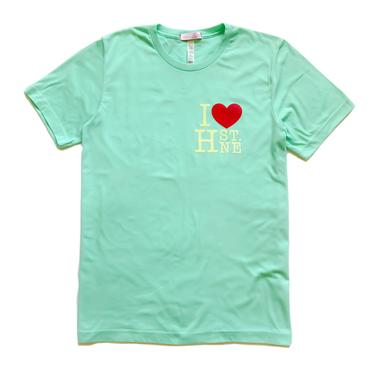 I ❤️ H ST NE - Hand Over Heart Graphic Tee (Clean Mint)
