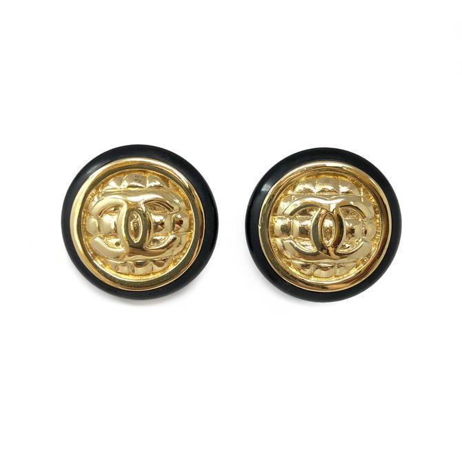 Chanel CC Clip Earrings