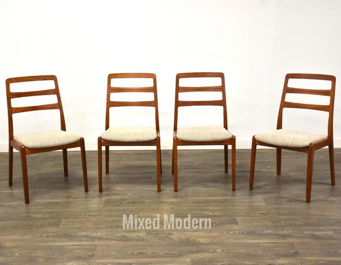 Danish Modern Teak Dining Chairs - Set of 4 by mixedmodern1