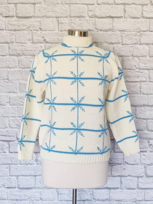 Vintage 60s Donkenny Ski Sweater // Pullover Acrylic Wool Turtleneck by GemVintageMN