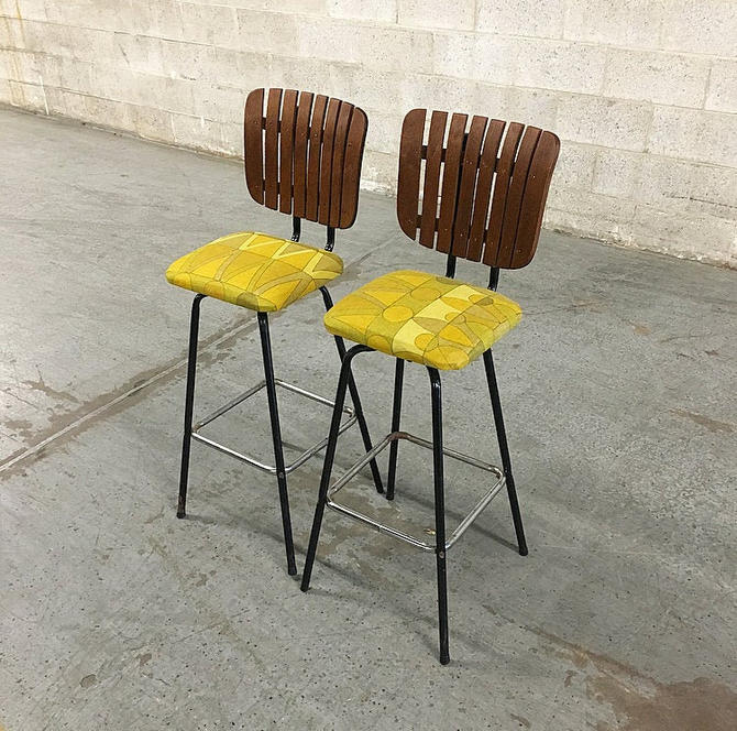 LOCAL PICKUP ONLY-----------Vintage Wood Back Bar Chairs by RetrospectVintage215