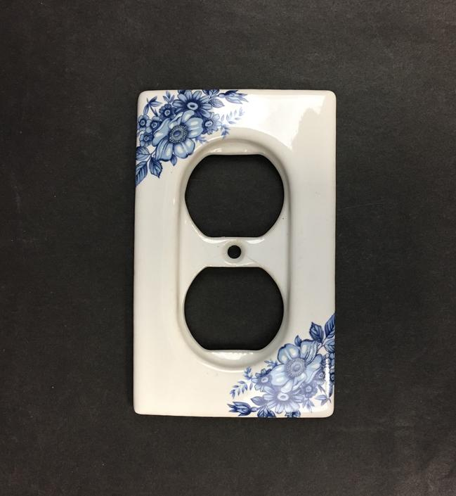 Blue and White Porcelain Outlet Cover