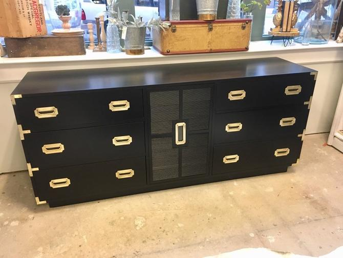 Camden- Long Black Campaign Dresser, Campaigner Collection by StylishPatina