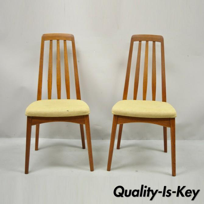 Svegards Markaryd Teak Mid Century Danish Modern Dining Side Chairs - a Pair