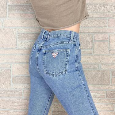 Guess High Waisted Ankle Zip Jeans / Size 26 Petite by NoteworthyGarments