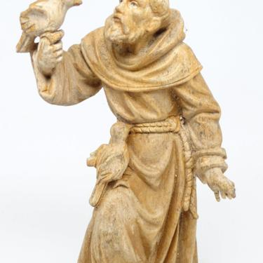 Early 1900 Hand Carved Wood Santos Saint Francis of Assisi, Antique Religious Church Folk Art, Vintage Decor by exploremag