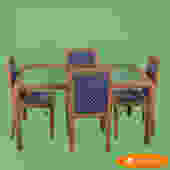 Rattan Wrapped Dining Set