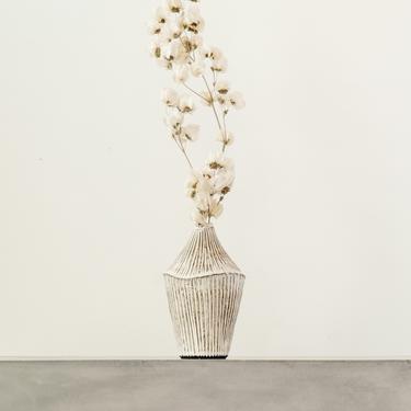 Ayame Bullock Short Neck Vase, Striped