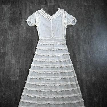 1930s net dress . vintage 30s gown by BlueFennel