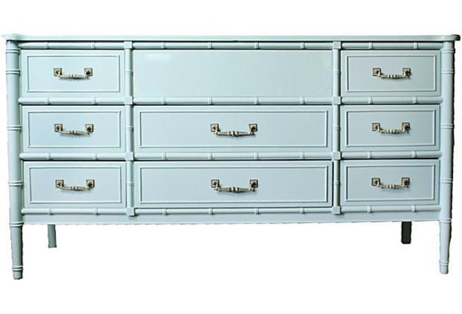 Faux Bamboo dresser Baby Blue or customize by Dianemarieshome