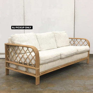 LOCAL PICKUP ONLY ———— Vintage Rattan Sofa by RetrospectVintage215
