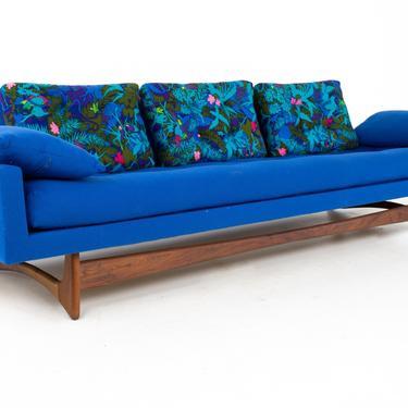 Adrian Pearsall for Craft Associates Model 2408 Mid Century Sleigh Leg Gondola Sofa - mcm by ModernHill