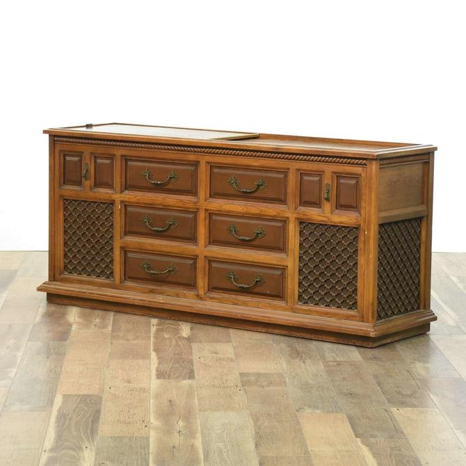 Mid Century Spanish Revival Record Cabinet