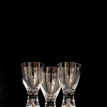 """Vintage Mid Century Modern Art Glass Glasses IITTALA Tapio Wirkkala 5.75"""" TAPIO Design w/ Bubble Finland Designer Finnish Design by SwankyChaperooo"""