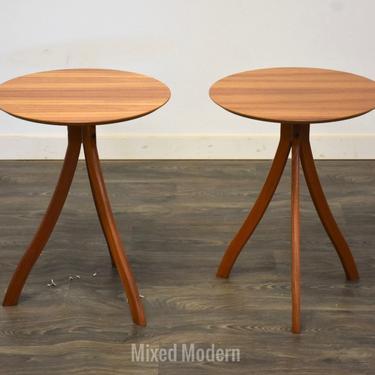 Danish Modern Teak End Tables - A Pair by mixedmodern1