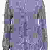 Joie - Light Blue Snakeskin Print V-Neck Long Sleeve Silk Blouse Sz M