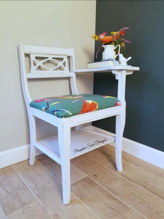 Vintage Bird Desk\/Gossip Chair