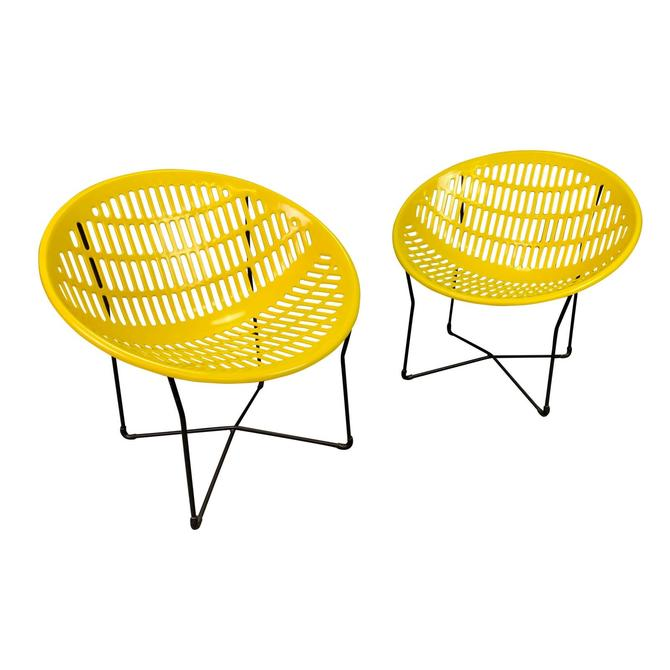 "Pair of Vintage Mid Century Modern ""Solair"" Patio Lounge Chairs by Fabiano & Panzini by AymerickModern"