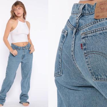 Levis Mom Jeans High Waist Jeans 80s Jeans Blue Jeans Levi High Waist Denim Pants 560 Tapered 1980s Vintage Hipster Medium 30 9 L by ShopExile