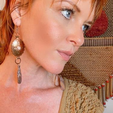 Handmade Statement Earrings Copper Jewelry JASPER  Southwestern Style by LoveItShop