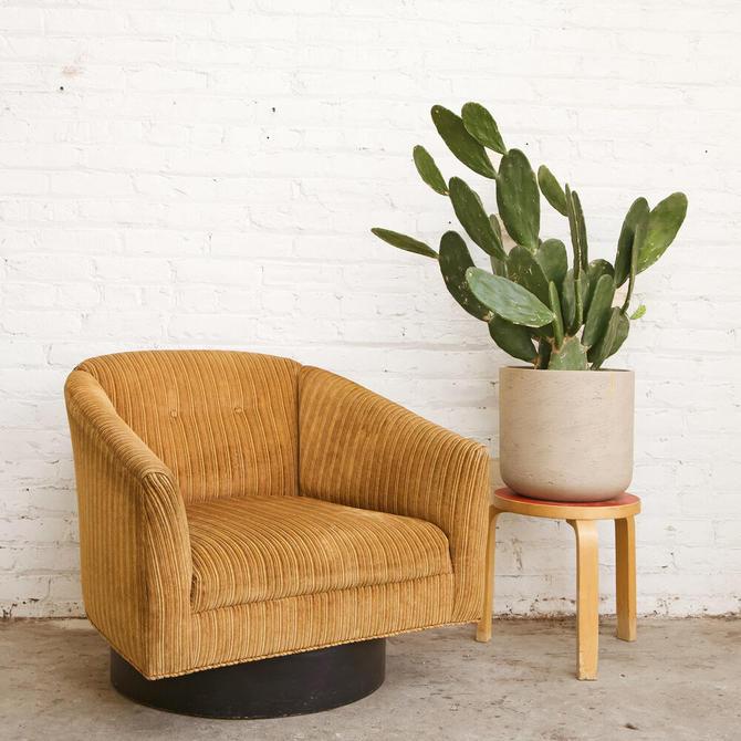 Velvet Swivel Club Chair