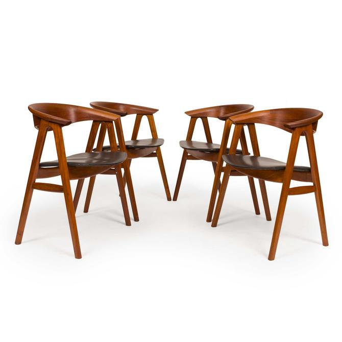 "Vintage Erik Kirkegaard Model 52 ""Compass Chair"" for Høng Stolefabrik 1960s Denmark by MCMSanFrancisco"
