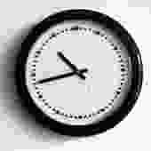 Rexite Italy 'Zero 980' Clock by Barbieri E Marrianelli