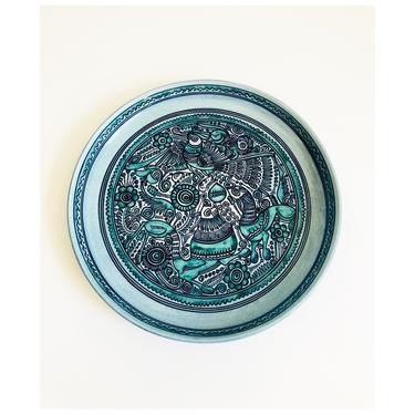 Mid Century Felix Tissot Taxco Mexico Serving Plate / Fantasia Pattern by SergeantSailor