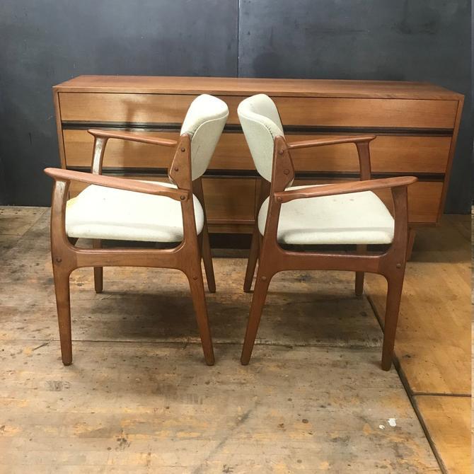Teak Armchairs Danish Modern OD Mobler Erik Buch Dining Chair Vintage