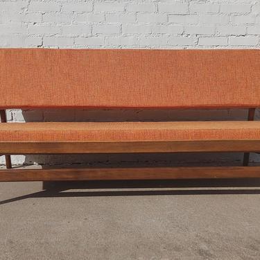 Mid Century Danish Modern Solid Walnut Daybed Sofa by VintageVaultTulsa
