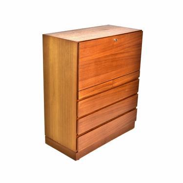 Vintage Arne Wahl Iversen for Vinde Danish Modern Teak Drop Front Desk Chest by PrairielandArt