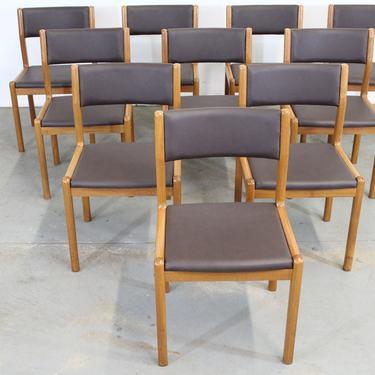 Set of 10 Danish Modern  JL Moeller Teak Side Dining Chairs by AnnexMarketplace