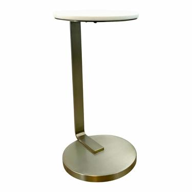 Caracole Contemporary White Stone Low Tide Accent Table