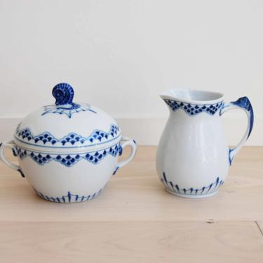 Rare Kronberg Bing and Grondahl Porcelain Cream Jug and Sugar Bowl Made in Denmark, 303, 311 by MidCentury55