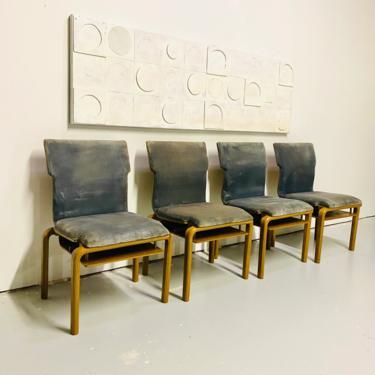 1960s Mid Century Modern Sauder Designare Intl Dining Chairs Set of 4, Vintage Dining Chairs, Vintage Dining Set by VivaLaVintagedotTX